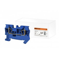 Зажим клеммный безвинтовой (ЗКБ) 1,5 мм2 17,5А синий | SQ0822-0002 | TDM