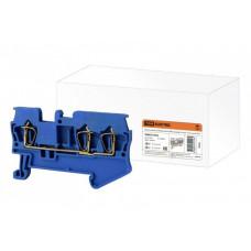 Зажим клеммный безвинтовой (ЗКБ) 3 вывода 1,5 мм2 17,5А синий | SQ0822-0023 | TDM