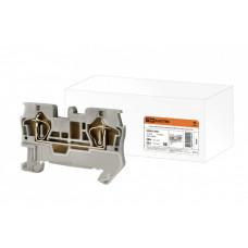 Зажим клеммный безвинтовой (ЗКБ) 2,5 мм2 31А серый | SQ0822-0003 | TDM