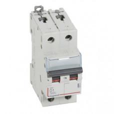 Выключатель автоматический двухполюсный DX3 6000 1А D 10кА | 408023 | Legrand