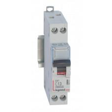 Выключатель автоматический однополюсный (1п+N) DX3 6000 13А C 10кА | 407741 | Legrand