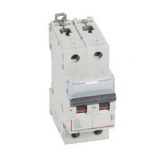 Выключатель автоматический двухполюсный DX3 6000 2А D 10кА | 408024 | Legrand