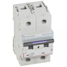 Выключатель автоматический двухполюсный DX3 40А C 50кА (3 мод) | 410152 | Legrand
