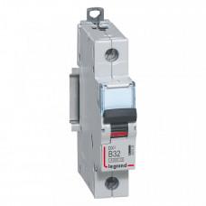 Выключатель автоматический однополюсный DX3 6000 32А B 10кА   407435   Legrand