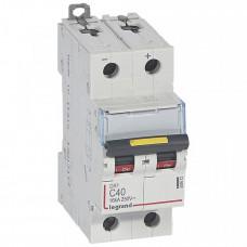 Выключатель автоматический двухполюсный DX3 DC 10000 40А C 16кА | 409572 | Legrand