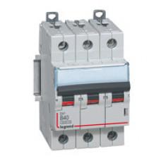 Выключатель автоматический трехполюсный DX3 6000 3А C 10кА | 407853 | Legrand