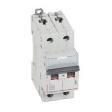 Выключатель автоматический двухполюсный DX3 6000 40А D 10кА | 408035 | Legrand
