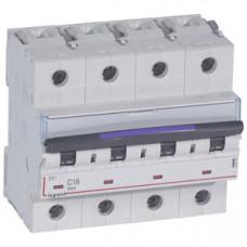 Выключатель автоматический четырехполюсный DX3 16А C 50кА (6 мод) | 410174 | Legrand