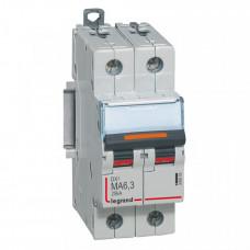 Выключатель автоматический двухполюсный DX3 6,3А MA 25кА   409869   Legrand