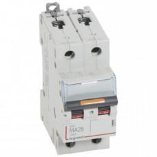 Выключатель автоматический двухполюсный DX3 25А MA 25кА   409873   Legrand