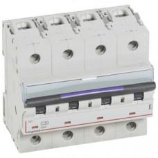 Выключатель автоматический четырехполюсный DX3 20А C 50кА (6 мод) | 410175 | Legrand
