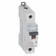 Выключатель автоматический однополюсный DX3 6000 40А D 10кА | 407975 | Legrand