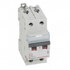 Выключатель автоматический двухполюсный DX3 6000 2А B 10кА   407503   Legrand