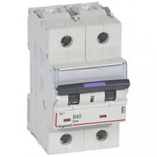 Выключатель автоматический двухполюсный DX3 40А B 50кА (3 мод) | 410102 | Legrand