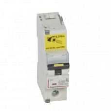 Выключатель автоматический однополюсный DX3 10000 100А C 16кА (1,5 мод)   409141   Legrand