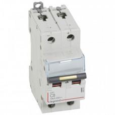 Выключатель автоматический двухполюсный DX3 DC 10000 8А C 16кА | 409566 | Legrand