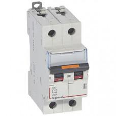 Выключатель автоматический двухполюсный DX3 2А C 25кА | 409765 | Legrand