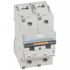 Выключатель автоматический двухполюсный DX3 100А C 25кА (3 мод) | 409776 | Legrand