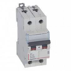 Выключатель автоматический двухполюсный DX3 10000 13А C 16кА   409201   Legrand
