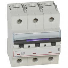 Выключатель автоматический трехполюсный DX3 40А C 50кА (4,5 мод) | 410165 | Legrand
