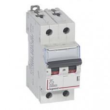 Выключатель автоматический двухполюсный DX3 10000 2А C 16кА   409196   Legrand