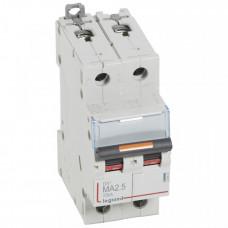 Выключатель автоматический двухполюсный DX3 2,5А MA 25кА   409867   Legrand