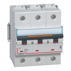 Выключатель автоматический трехполюсный DX3 16А D 25кА (4,5 мод) | 409833 | Legrand