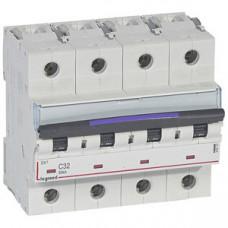 Выключатель автоматический четырехполюсный DX3 32А C 50кА (6 мод) | 410177 | Legrand