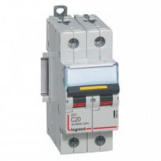 Выключатель автоматический двухполюсный DX3 DC 10000 20А C 16кА | 409569 | Legrand