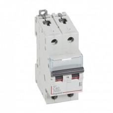 Выключатель автоматический двухполюсный DX3 10000 40А C 16кА   409206   Legrand