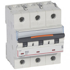 Выключатель автоматический трехполюсный DX3 50А B 25кА (4,5 мод)   409734   Legrand
