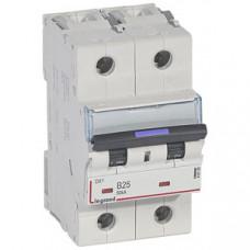 Выключатель автоматический двухполюсный DX3 25А B 50кА (3 мод) | 410100 | Legrand