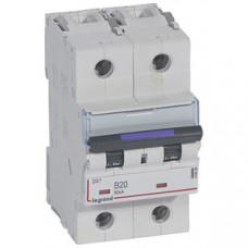 Выключатель автоматический двухполюсный DX3 20А B 50кА (3 мод) | 410099 | Legrand