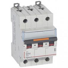 Выключатель автоматический трехполюсный DX3 4А MA 25кА   409878   Legrand