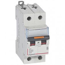Выключатель автоматический двухполюсный DX3 20А D 25кА | 409821 | Legrand