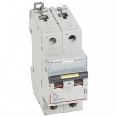 Выключатель автоматический двухполюсный DX3 DC 10000 2А C 16кА | 409562 | Legrand