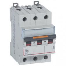 Выключатель автоматический трехполюсный DX3 10А D 25кА | 409832 | Legrand