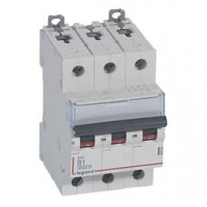 Выключатель автоматический трехполюсный DX3 6000 1А B 10кА   407554   Legrand