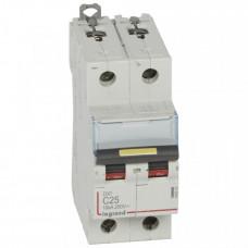 Выключатель автоматический двухполюсный DX3 DC 10000 25А C 16кА | 409570 | Legrand