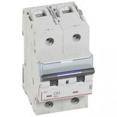 Выключатель автоматический двухполюсный DX3 63А C 50кА (3 мод) | 410154 | Legrand
