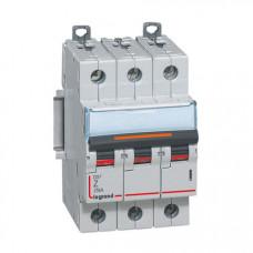 Выключатель автоматический трехполюсный DX3 10А Z 25кА | 409923 | Legrand