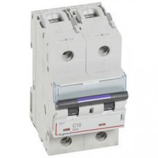 Выключатель автоматический двухполюсный DX3 10А C 50кА (3 мод) | 410147 | Legrand