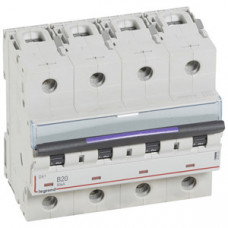 Выключатель автоматический четырехполюсный DX3 20А B 50кА (6 мод) | 410123 | Legrand