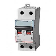 Выключатель автоматический двухполюсный DX3 6000 3А D 10кА | 408025 | Legrand