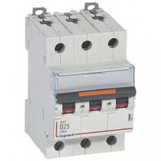 Выключатель автоматический трехполюсный DX3 25А B 25кА   409731   Legrand