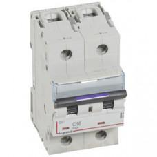 Выключатель автоматический двухполюсный DX3 16А C 50кА (3 мод) | 410148 | Legrand