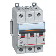 Выключатель автоматический трехполюсный DX3 20А C 25кА | 409782 | Legrand