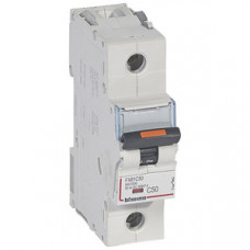 Выключатель автоматический однополюсный DX3 50А D 25кА (1,5 мод) | 409812 | Legrand