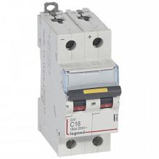 Выключатель автоматический двухполюсный DX3 DC 10000 16А C 16кА | 409568 | Legrand