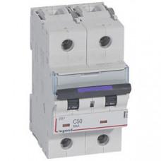 Выключатель автоматический двухполюсный DX3 50А C 50кА (3 мод) | 410153 | Legrand